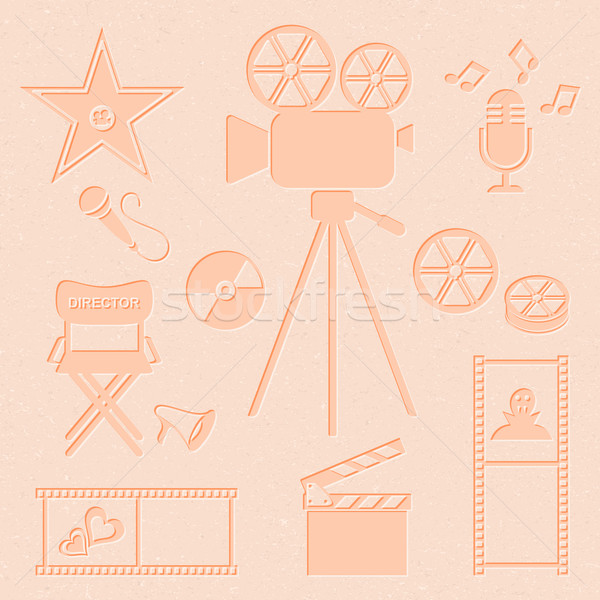 Stock photo: Movie and music icons