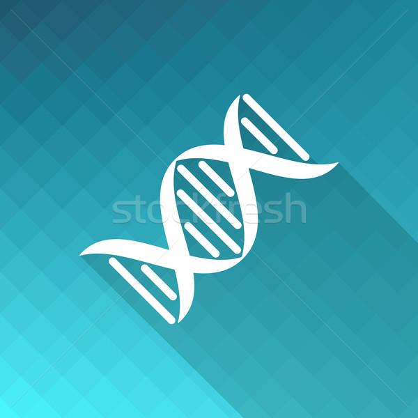 ADN icône blanche vecteur mosaïque nature Photo stock © blumer1979