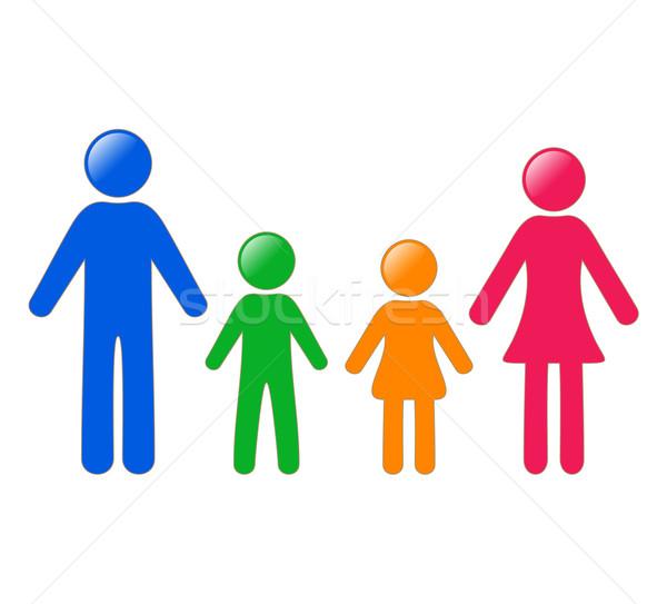современных красочный семьи член иконки женщину Сток-фото © blumer1979