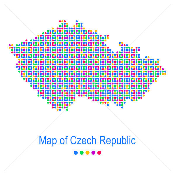 Map of czech republic vector dot pattern Stock photo © blumer1979