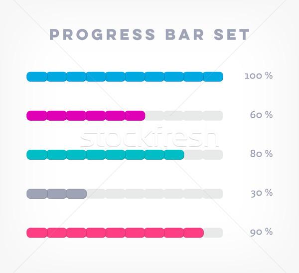 Vetor progresso barras por cento fundo Foto stock © blumer1979
