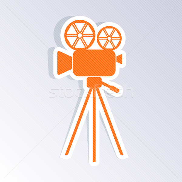 Retro movie camera icon Stock photo © blumer1979