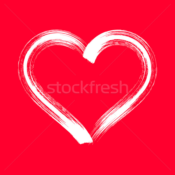 White vector brush strokes heart Stock photo © blumer1979