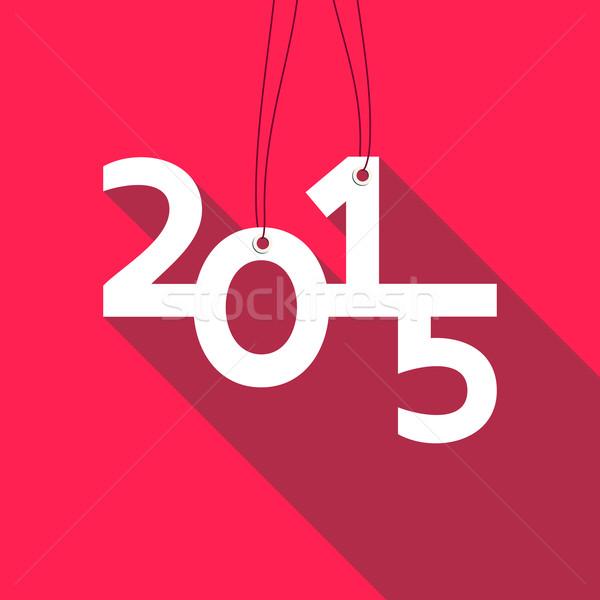 2015 kártya piros fehér vektor terv Stock fotó © blumer1979