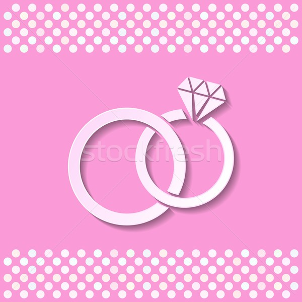 Wedding rings Stock photo © blumer1979