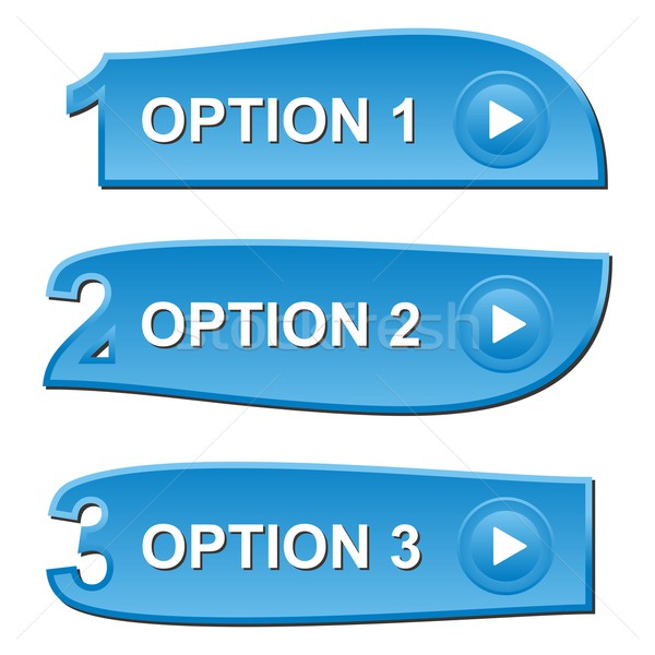 Trois bleu choix bannières Photo stock © blumer1979