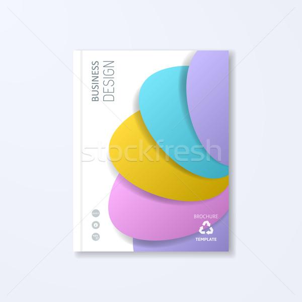 Résumé vecteur brochure modèle de conception Creative coloré Photo stock © blumer1979