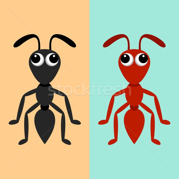 Black and red ants Stock photo © blumer1979