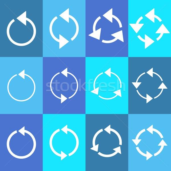 Rotating circle arrows Stock photo © blumer1979