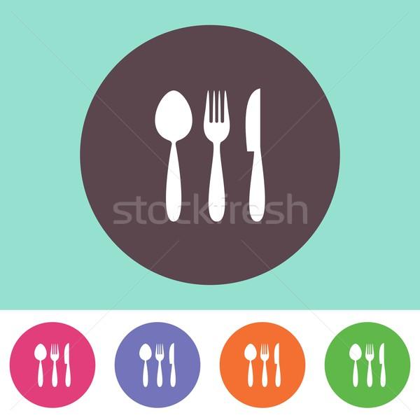 Vector cutlery icon Stock photo © blumer1979