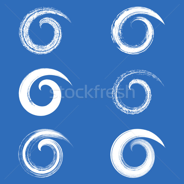 Vector brush strokes spirals Stock photo © blumer1979