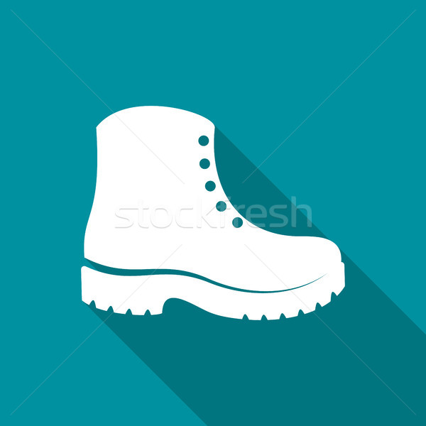 Simple white vector boots icon Stock photo © blumer1979
