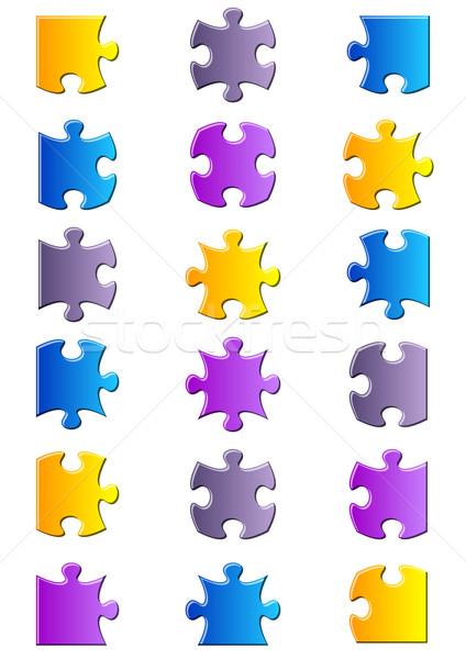 Alle möglich Formen Stücke Gradienten Stock foto © blumer1979