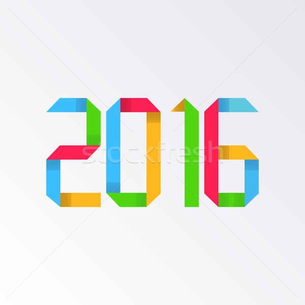 New year 2016 origami Stock photo © blumer1979