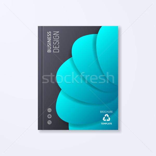 Absztrakt vektor brosúra design sablon kreatív színes Stock fotó © blumer1979