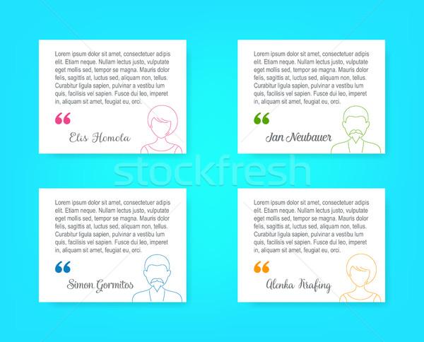 Pessoal perfil pessoas de negócios fino linha avatar Foto stock © blumer1979