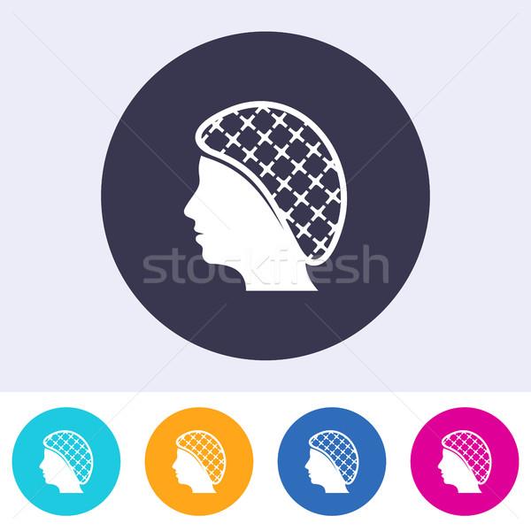 Single vector hairnets must be worn icon Stock photo © blumer1979