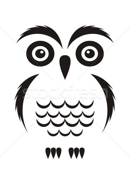 Black owl Stock photo © blumer1979