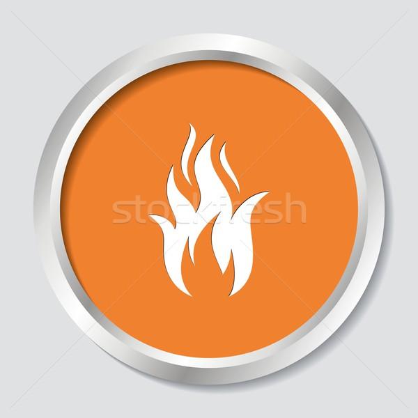 Fire warning symbol Stock photo © blumer1979