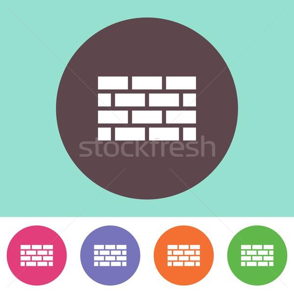 Brick wall icon Stock photo © blumer1979