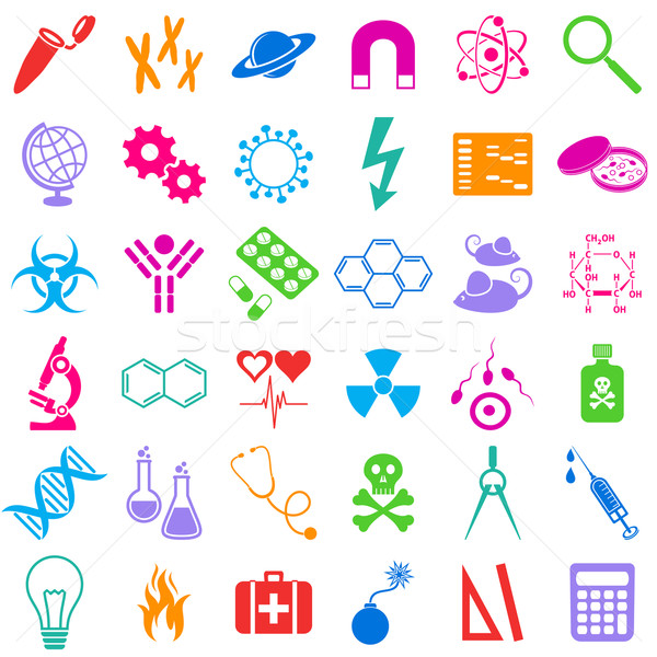 Science icons Stock photo © blumer1979
