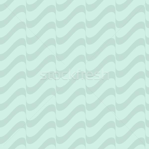 Sin costura ondulado línea patrón menta vector Foto stock © blumer1979