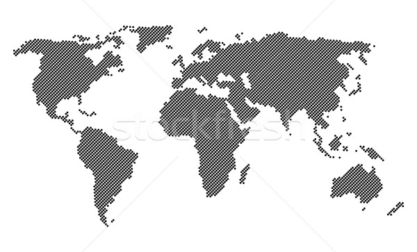 Dotted world map isolated Stock photo © blumer1979