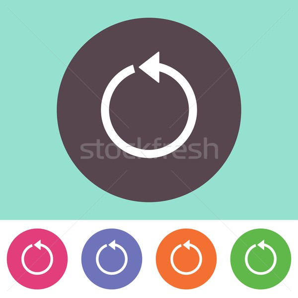 Vector reload icon Stock photo © blumer1979