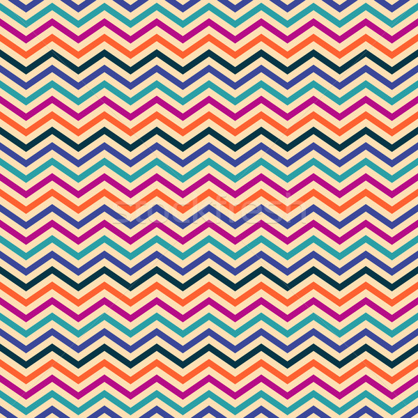 Colorful vector seamless zigzag pattern Stock photo © blumer1979