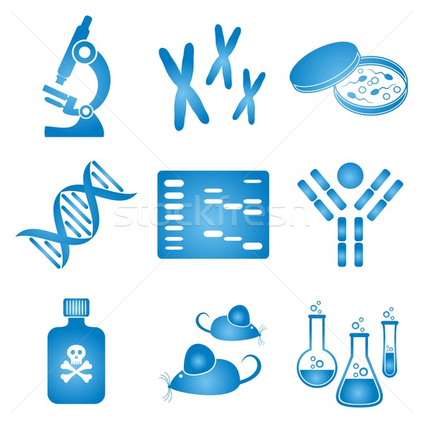 Biology science icons Stock photo © blumer1979