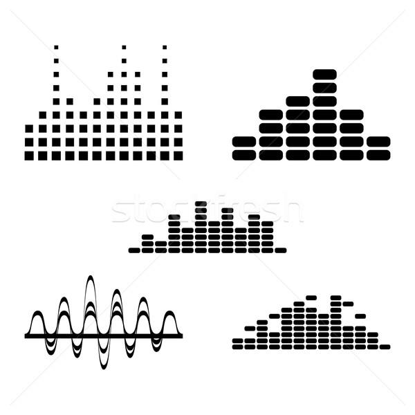 Digital ecualizador diseno elementos vector música Foto stock © blumer1979