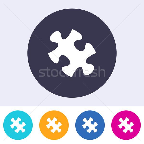 Vector puzzle piece icon Stock photo © blumer1979