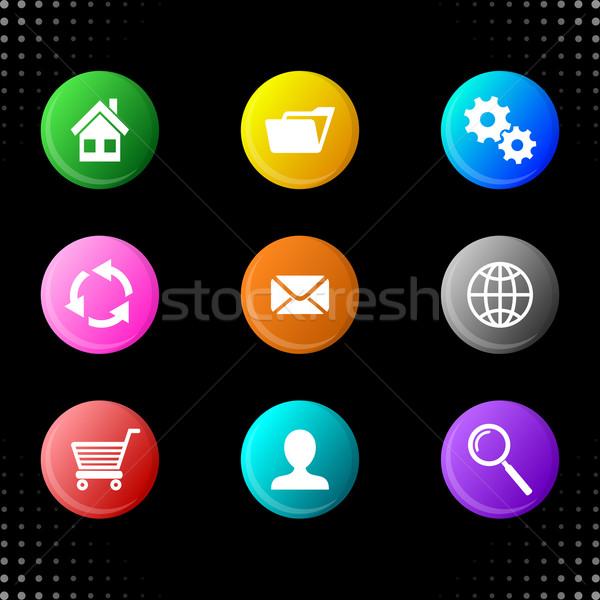 Round website icons Stock photo © blumer1979