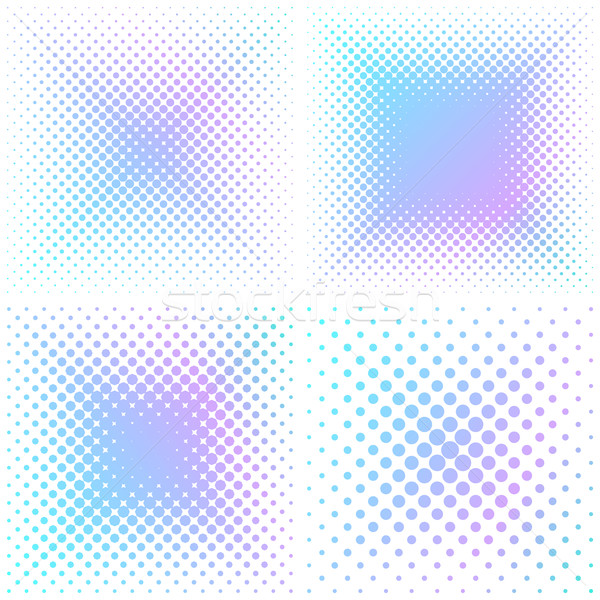 Abstract square halftone elements Stock photo © blumer1979