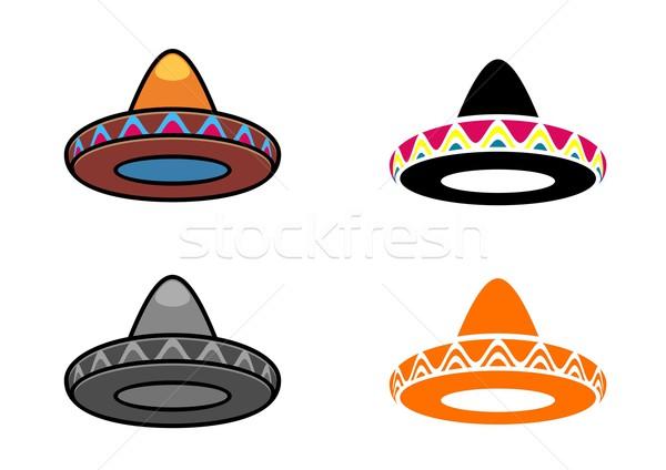 Сток-фото: мексиканских · набор · четыре · различный · Hat