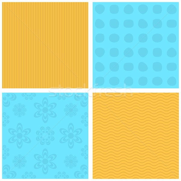 Vecteur jaune bleu modèles Photo stock © blumer1979