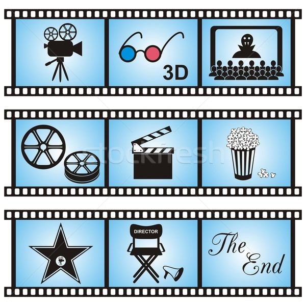 Movie icons Stock photo © blumer1979