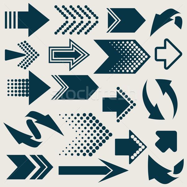 Vector arrow sign icons Stock photo © blumer1979