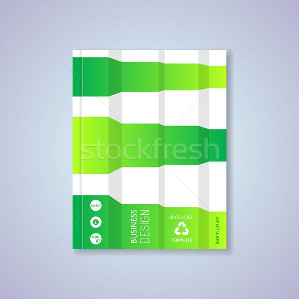 Vert résumé brochure modèle de conception Creative eco Photo stock © blumer1979