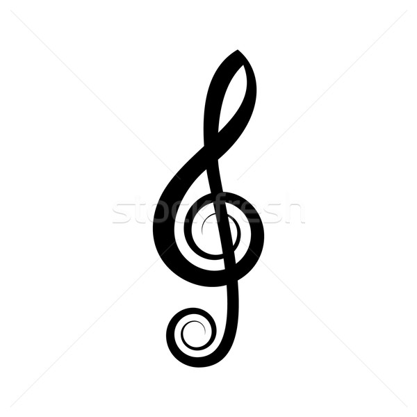 Simple black vector treble clef Stock photo © blumer1979