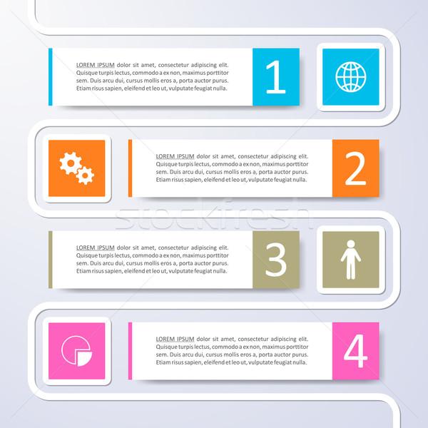 Opzioni infografica vettore design colorato Foto d'archivio © blumer1979