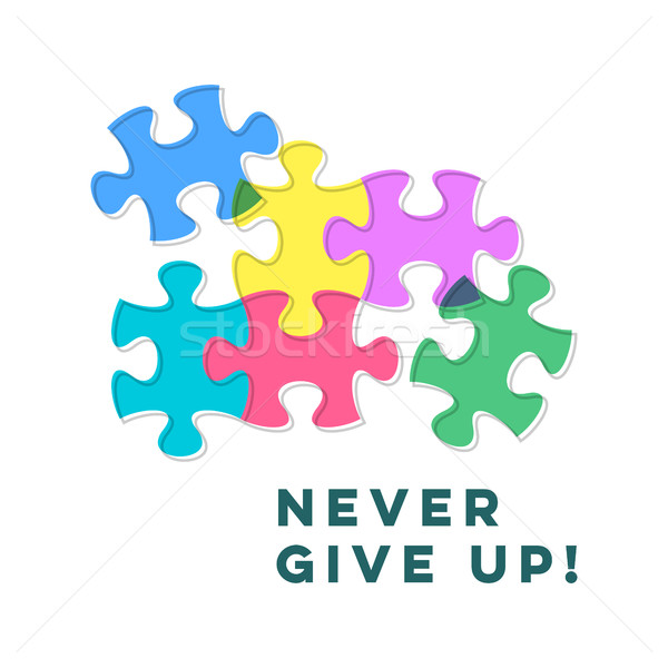 Never give up inspiring motivation quote Stock photo © blumer1979
