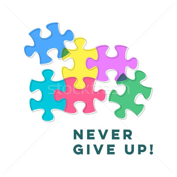 Mai dare up motivazione citare Foto d'archivio © blumer1979