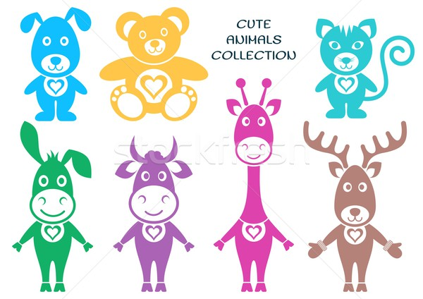 Cute cartoon animals Stock photo © blumer1979