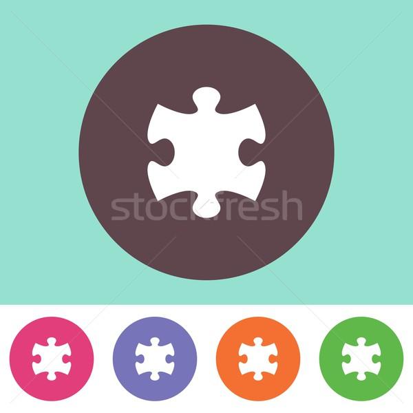 Puzzle piece icon Stock photo © blumer1979
