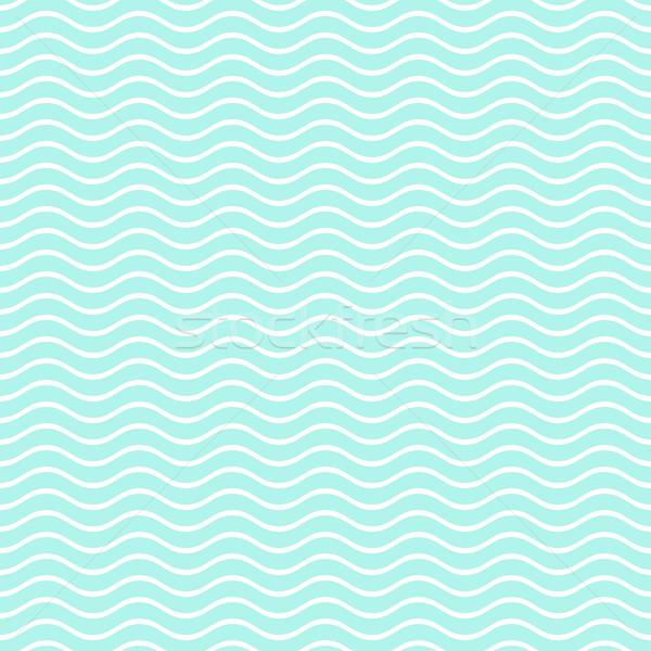 Dalgalı hat model turkuaz doku Stok fotoğraf © blumer1979