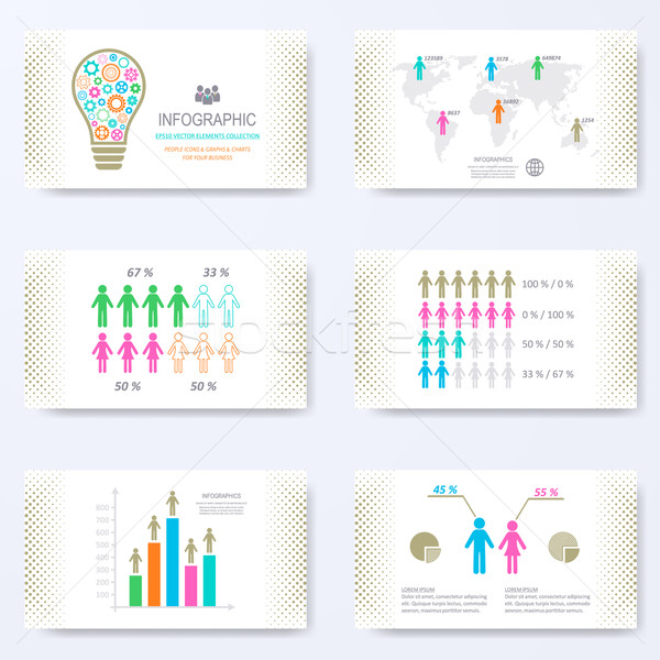 Vector template for presentation slides Stock photo © blumer1979