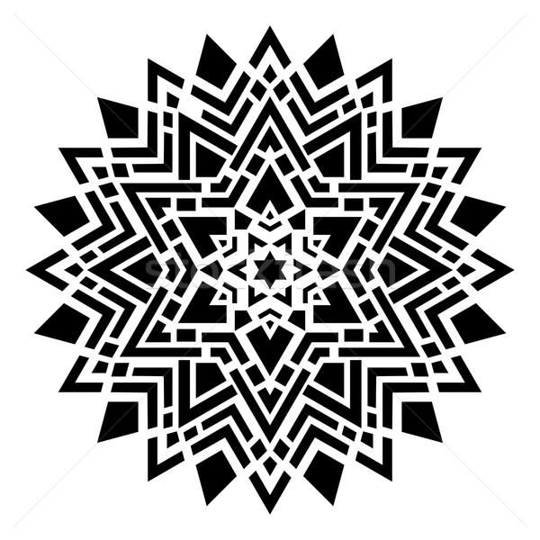 幾何学的な 飾り 黒 抽象的な テクスチャ シルエット ストックフォト © blumer1979