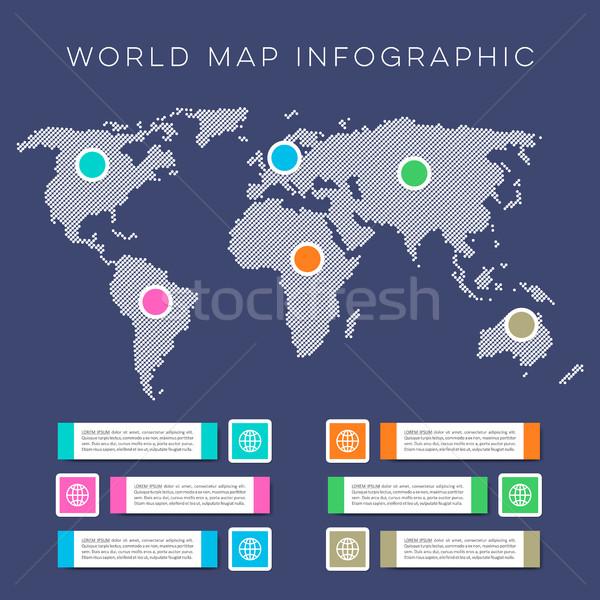 World map infographic vector template Stock photo © blumer1979