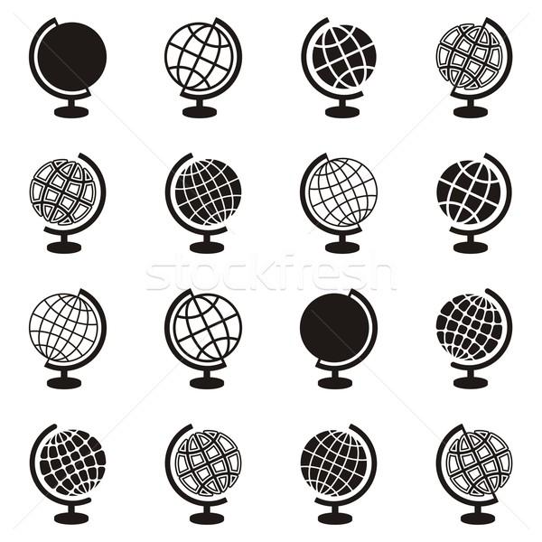 Globe icons Stock photo © blumer1979